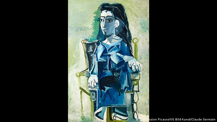 A woman in a rocking chair abstract painting by Picasso (Succession Picasso/VG Bild-Kunst/Claude Germain)