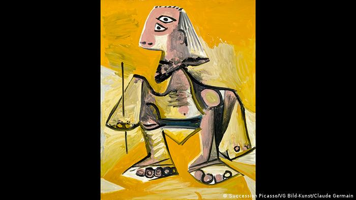 A Picasso painting of an abstractly shaped man (Succession Picasso/VG Bild-Kunst/Claude Germain)