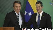 Brasilien Jair Bolsonaro & Juan Guaido, Interimspräsident Venezuela