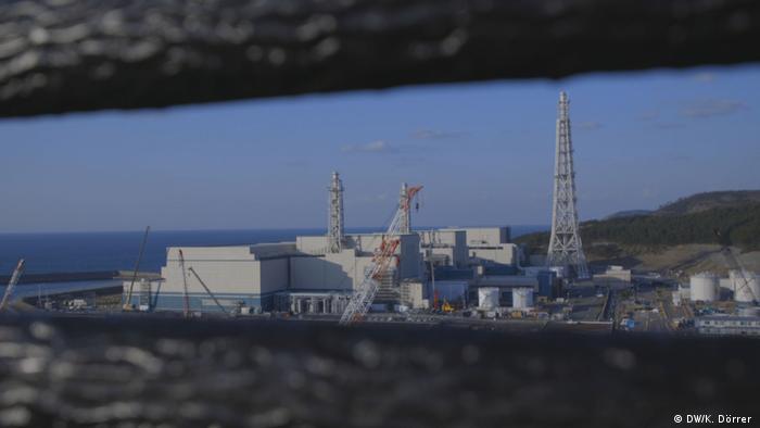 Construction work at the Kashiwazaki-Kariwa nuclear power plant