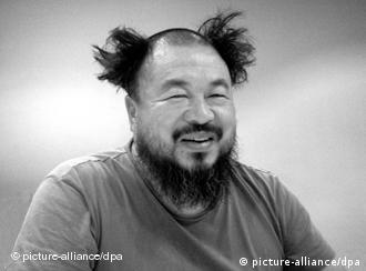 Black and white image of Ai Weiwei