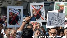 Indien Mumbai Proteste gegen radikale Islamisten aus Pakistan