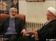 مهدی کروبی (راست) و میرحسین موسوی