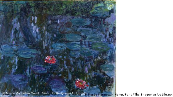 Claude Monet: Seerosenteig, Spiegelung von Trauerweiden. © Musée Marmottan Monet, Paris / The Bridgeman Art Library