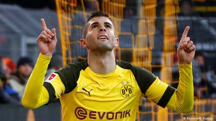 Bundesliga Borussia Dortmund v VfB Stuttgart | Jubel Pulisic (Reuters/W. Rattay )