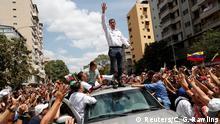 Venezuelan Krise l Anti-Regierungsdemonstration l Oppositionsführer Juan Guaido