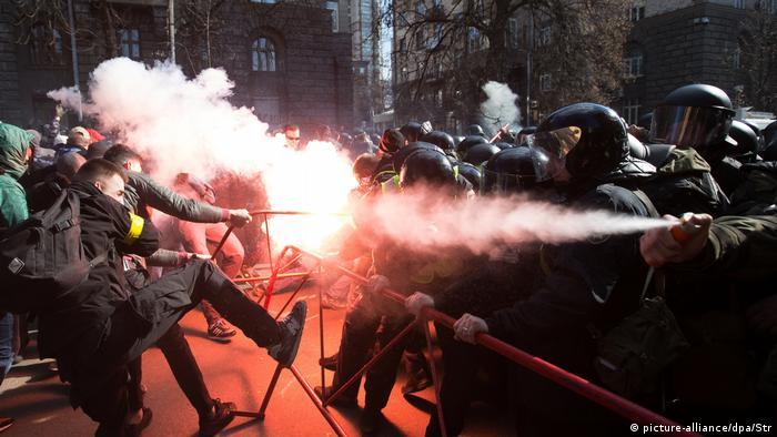 Столкновения националистов и полиции в Киеве 9 марта 2019 года