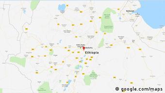 English: Äthiopien mutmaßlicher Absturzort Boeing 737 Ethiopien Airlines