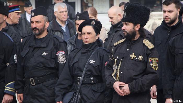 Bosnien und Herzegowina Tschetnik-Versammlung in Visegrad