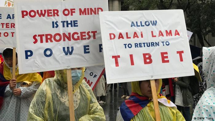 Taiwan 60. Jahrestag Tibetischer Aufstand   Demo in Taipeh