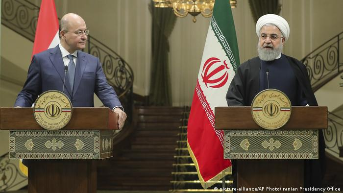 Iran Irak Barham Salih und Hassan Rohani (picture-alliance/AP Photo/Iranian Presidency Office)