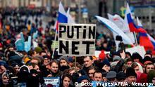 Russland Moskau Proteste gegen Internet-Zensur