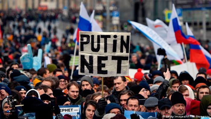 Russland Moskau Proteste gegen Internet-Zensur (Getty Images/AFP/A. Nemenov)