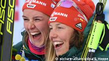 Biathlon - WM Östersund | Denise Herrmann und Laura Dahlmeier