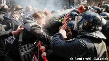 Ukraine Zusammenstöße zwischen Nationalisten und der Polizei in Kiew
