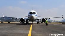 (181109) -- ZHOUSHAN, Nov. 9, 2018 () -- A Boeing 737 MAX passenger airplane arrives at Putuoshan Airport in Zhoushan, east China s Zhejiang Province, Nov. 9, 2018. Boeing s 737 Completion and Delivery Center in Zhoushan, a coastal city in eastern China s Zhejiang Province, will deliver its first plane in the 737 family in December. The newly-completed 737 airplane will be delivered to Air China. () (lmm) CHINA-ZHEJIANG-ZHOUSHAN-BOEING-PROJECT (CN) Xinhua PUBLICATIONxNOTxINxCHN