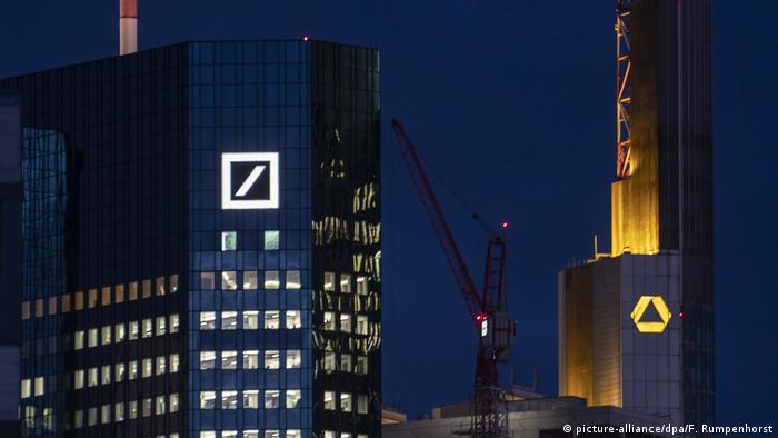 Commerzbank and Deutsche Bank in Frankfurt