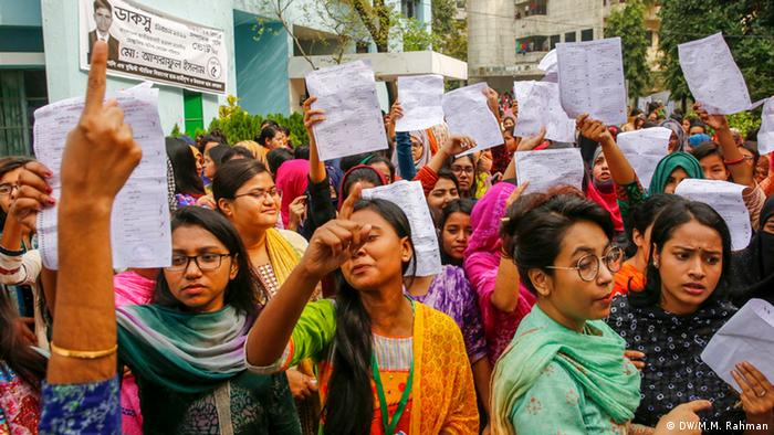 Bangladesch Dhaka University Central Students' Union | Wahl (DW/M.M. Rahman)