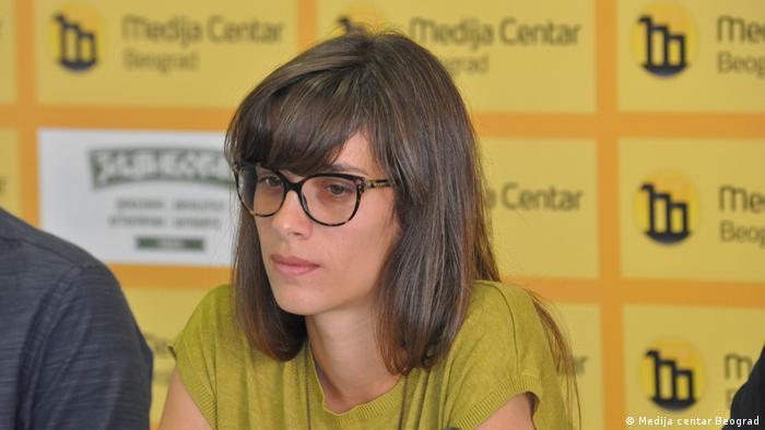 Ksenija Radovanovic Aktivistin aus Belgrad