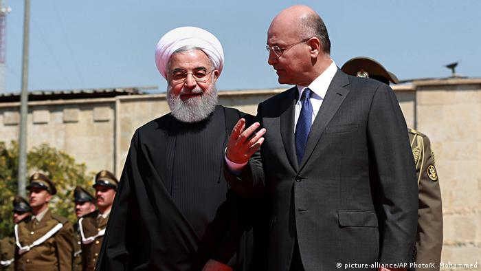 Hassan Rouhani and Barham Salih (picture-alliance/AP Photo/K. Mohammed)
