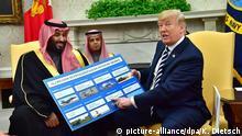 USA Treffen Präsident Trump mit Prinz Mohammed bin Salman