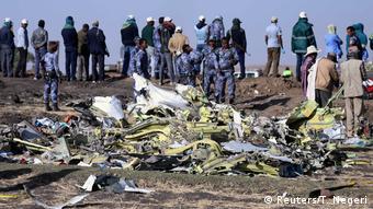 На месте крушения самолета Ethiopian Airlines