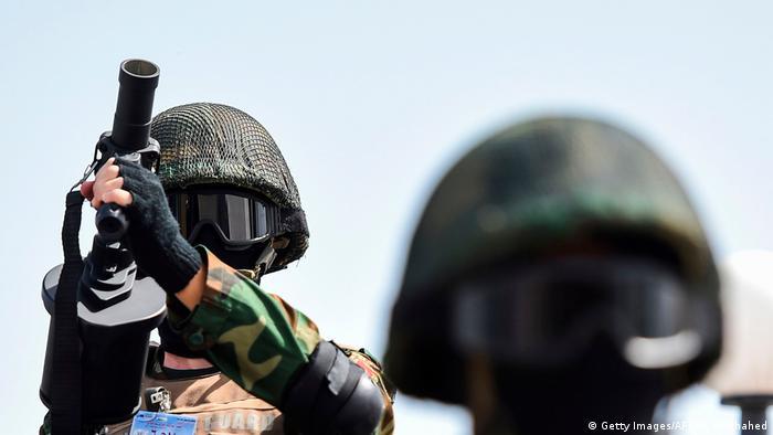 Soldados egipcios en Sinaí.