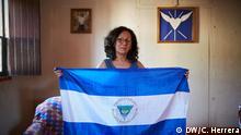 Delma Portocarrero, nicaraguanische Menschenrechtaktivistin, die vom Ortega-Regime hinter Gittern gesteckt wurde, weil sie an Protestmärchen teilgenommen hat Foto: DW / Carlos Herrera