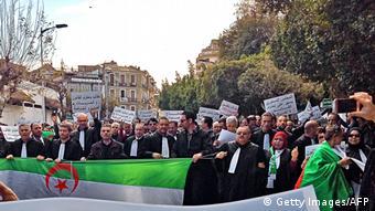 Algerien   Streik in Algier (Getty Images/AFP)