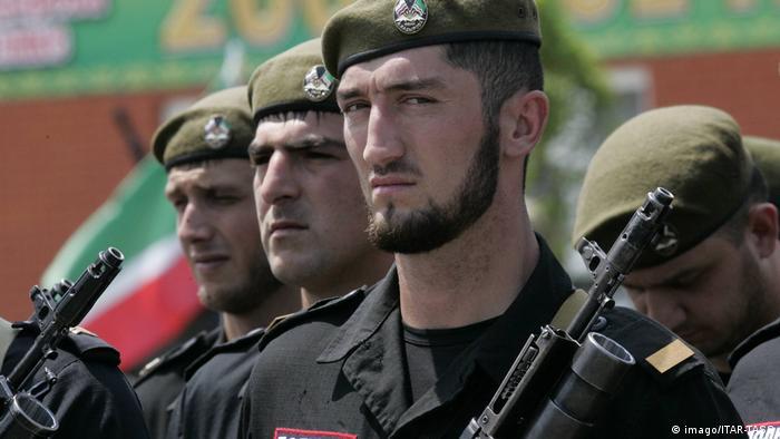 полицейские в Чечне