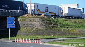Frankreich Ärmelkanal Brexit   Lastwagenstau in Calais