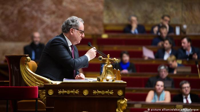 Richard Ferrand - President of the National Assembly Richard Ferrand during a session of questions to the Government at the French National Assembly in Paris on January 23