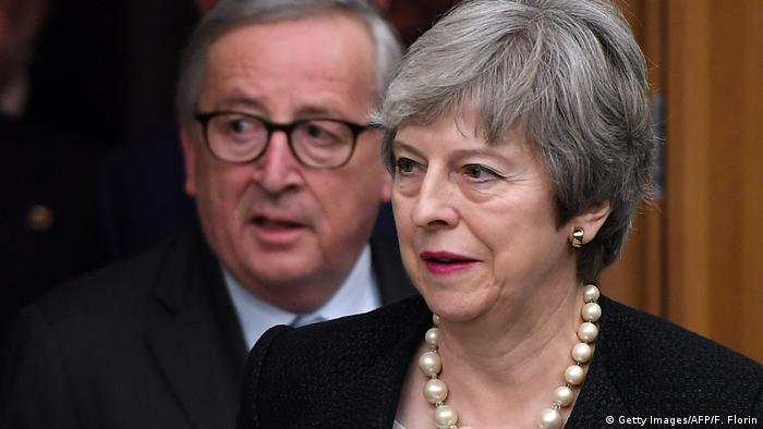 Frankreich Brexit l Theresa May trifft sich mit Juncker in Strassburg
