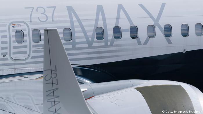 A promotional photo of the Boeing 737 Max 8