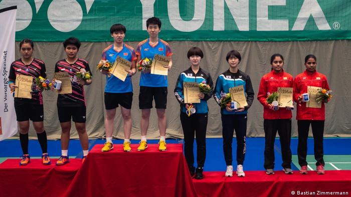 Berlin Badminton-Spieler aus Indonesien