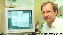 Tim Berners-Lee Erfinder von World Wide Web (Imago/Leemage/CERN)