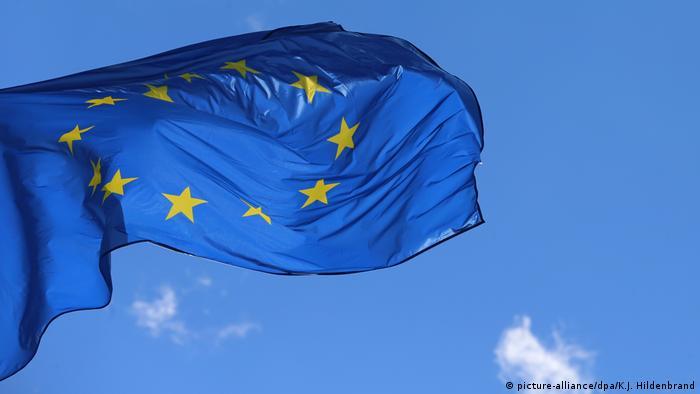 Frankreich, Straßburg   Europäisches Parlament & EU-Flagge