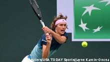 USA Tennis BNP Paribas Open Alexander Zverev vs Jan-Lennard Struff