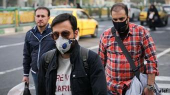 Iran schlechte Luft und Gestank in Teheran