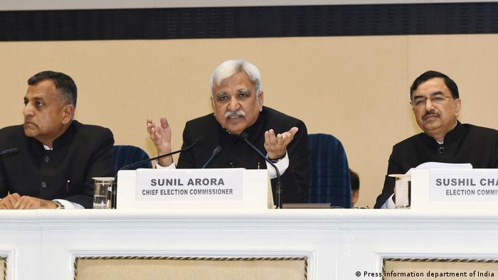 Sunil Arora, indischer Chefwahlkommissar (Press information department of India)