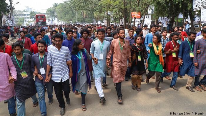 Bangladesch Wahl der DUCSU (Central Students' Union) der Universität Dhaka