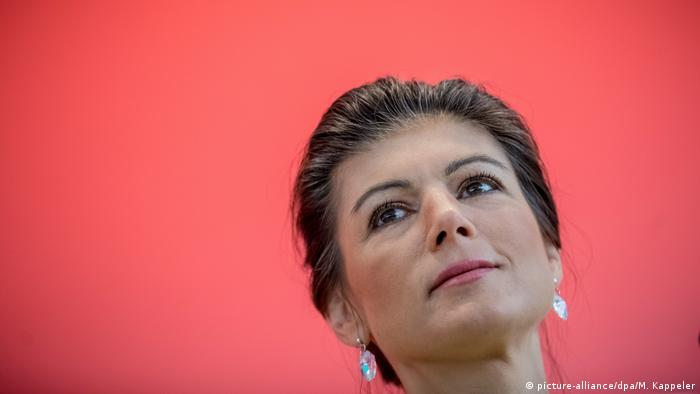 Sahra Wagenknecht of Germany's Left party (picture-alliance/dpa/M. Kappeler)