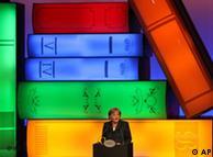 Angela Merkel, en la inauguración de la feria del Libro.