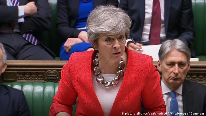 Прем'єрка Великобританії Тереза Мей у Палаті громад, 12 березня