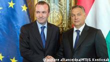 Europa Wahlen l Europäische Volkspartei - Weber und Orban