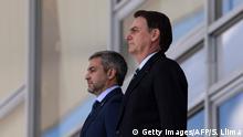 Brasilien l Paraguayanischer Präsident Mario Abdo Benitez und Brasilianischer Präsident Jair Bolsonaro,