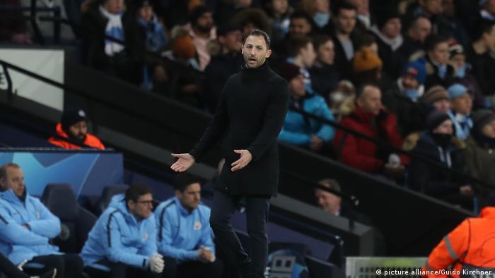 Fußball Champions League | FC Schalke 04 - Manchester City l Trainer Domenico Tedesco