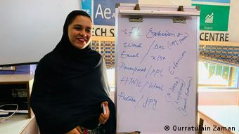 Nawahl Zahid, IT instructor at the Sindh Tech Development Center in Lyari, Karachi