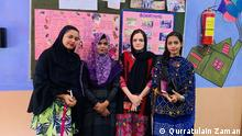 Four instructors of the Sindh Tech Skill Development Center for women and girls in Karachi