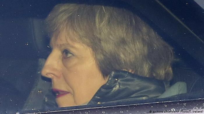 Theresa May in London on March 12 (picture alliance/AP Photo/T. Ireland)